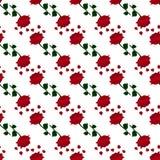 深红玫瑰色样式 免版税库存照片
