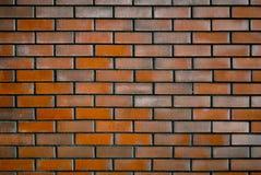 深红砖墙壁  免版税库存照片