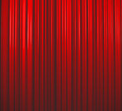 深红窗帘 库存图片