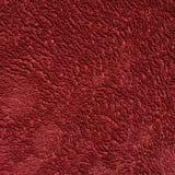 深红颜色毛巾布料 库存照片