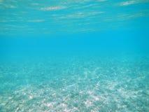 深纯蓝色海洋 图库摄影