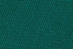深绿织品背景纹理 亚麻制纺织材料细节  库存照片