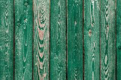 深绿老木板 背景和被绘的纹理篱芭 正面图 吸引美好的葡萄酒背景 免版税库存图片