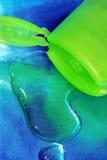 深绿色香波 图库摄影