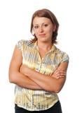 深色头发的妇女年轻人 免版税库存照片
