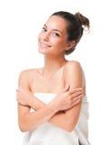 深色的化妆用品秀丽 免版税库存图片