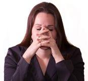 深色的哀伤的妇女 免版税库存照片