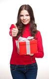 深色的圣诞节秀丽。 免版税库存照片