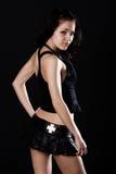 深色的微型性感的裙子 库存图片