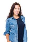 深色头发的女用贴身内衣裤设计 库存图片
