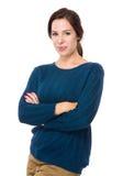 深色头发的女用贴身内衣裤设计 免版税库存照片