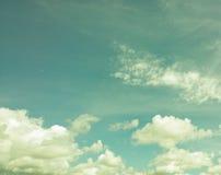 深葡萄酒天空 库存图片
