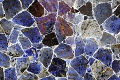 深蓝优越自然石材料 免版税库存照片