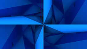 深蓝低多几何背景 图库摄影