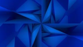 深蓝低多几何背景 库存图片