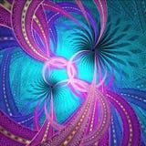 深蓝和洋红色分数维艺术 免版税图库摄影