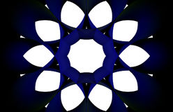 深蓝圆的传染媒介 库存照片