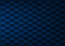 深蓝多角形背景 皇族释放例证