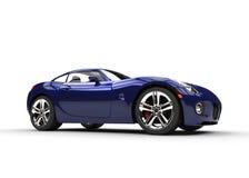 深蓝快速的时髦的汽车 库存照片