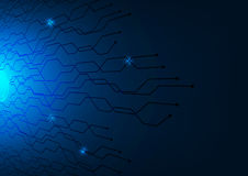 深蓝抽象技术背景传染媒介例证 免版税库存图片