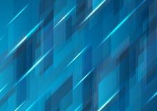 深蓝抽象高科技传染媒介样式设计 库存照片