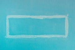 深蓝方形的油漆墙壁 库存照片