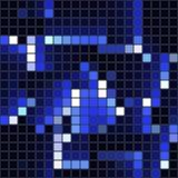 深蓝方形的马赛克-无缝的背景 图库摄影