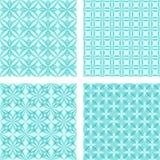 深蓝无缝的样式背景集合 向量例证