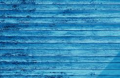 深蓝木墙壁 库存图片