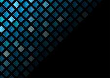 深蓝正方形抽象技术背景 免版税图库摄影