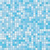 深蓝正方形铺磁砖无缝的传染媒介纹理 库存例证