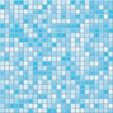 深蓝正方形铺磁砖无缝的传染媒介纹理 向量例证