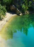 深蓝湖在克罗地亚 库存图片