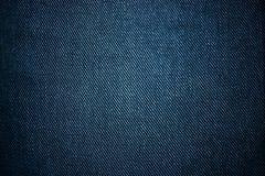 深蓝牛仔布背景纹理  库存图片