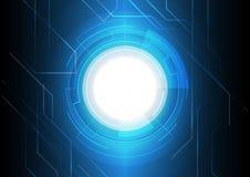 深蓝电子技术背景 免版税库存照片