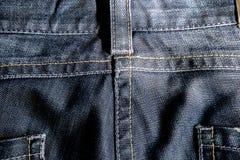 深蓝的牛仔裤 库存照片