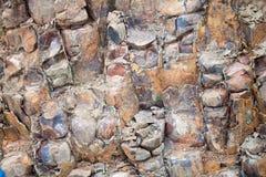 深蓝石储备玄武岩的专栏橙色和 免版税库存照片