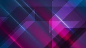 深蓝紫色发光的高科技录影动画 皇族释放例证