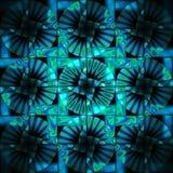 深蓝色无缝的复杂圈子样式的绿松石 库存照片