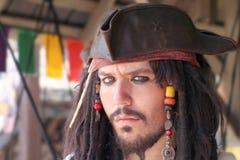 深蓝色的海盗 库存图片