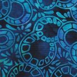 深蓝蜡染布背景 图库摄影