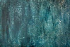 深蓝被绘的老胶合板纹理、背景或者墙纸 图库摄影