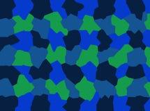 深蓝,绿色抽象一个友好的队组成屏幕的,电话,片剂创造性的背景 免版税库存照片