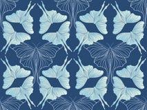 深蓝蝴蝶图案传染媒介 库存例证