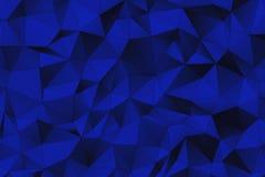 深蓝3D多角形表面 免版税库存照片