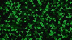 深绿三角挤压了背景3D回报 皇族释放例证