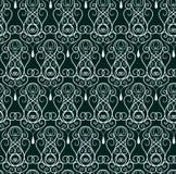 深绿华丽装饰品样式摘要传染媒介 向量例证
