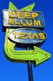 深刻的榆木得克萨斯标志 免版税库存照片