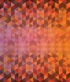 深刻的橙色和棕色三角样式 免版税图库摄影