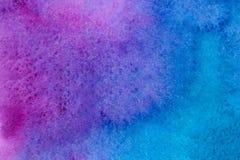 深刻的蓝色和紫色水彩背景 皇族释放例证